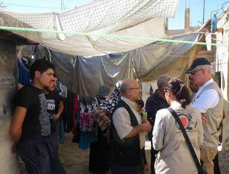 Talking to Syrian refugee families