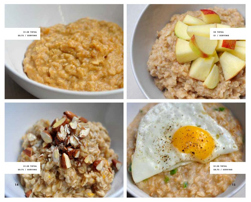 Different plates of healthy food