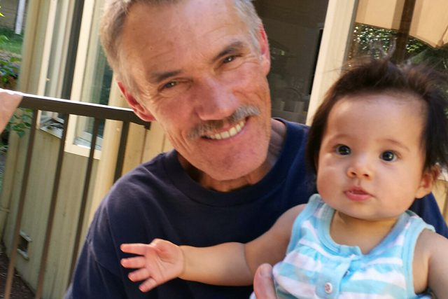 Marty Swanson and his granddaughter, Peyton