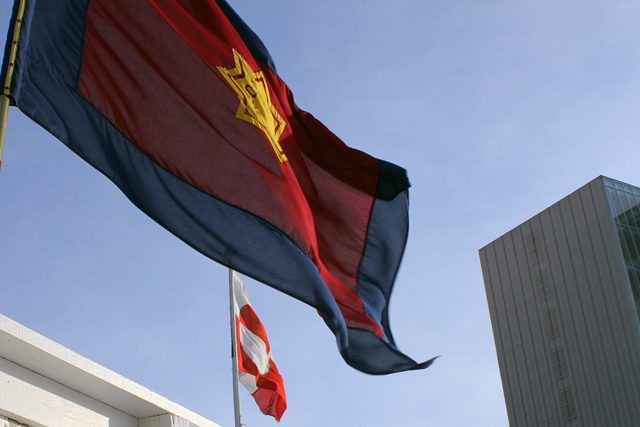The Salvation Army colours side by side the Greenlandic flag
