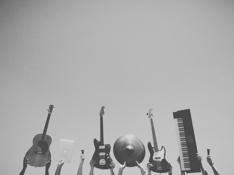 Instruments in black and white
