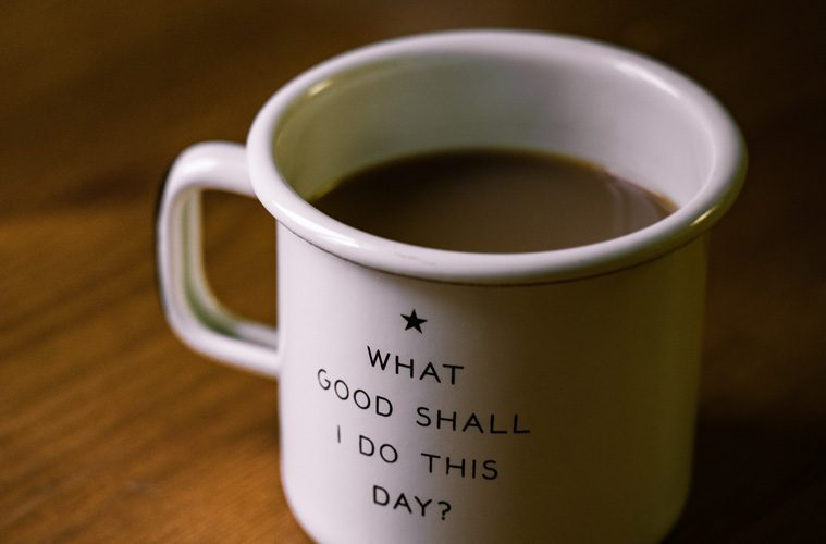 coffee cup with quote
