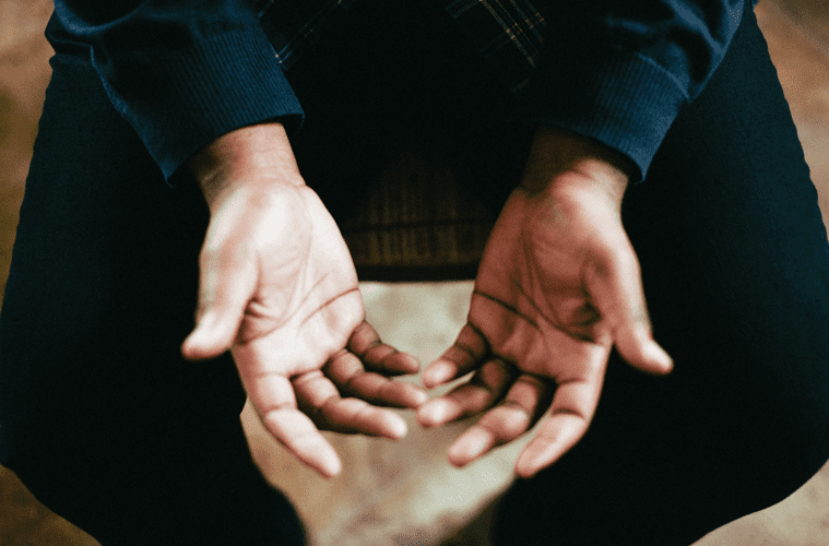 hands with palms facing up