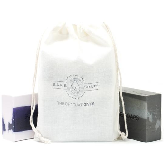 B.A.R.E. Soap Bag with Two Bars of Soap