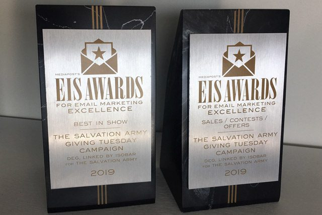 Two EIS Awards that were won by The Salvation Army THQ Digital Team
