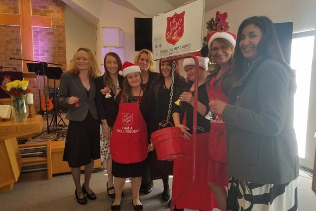 Women with red kettle
