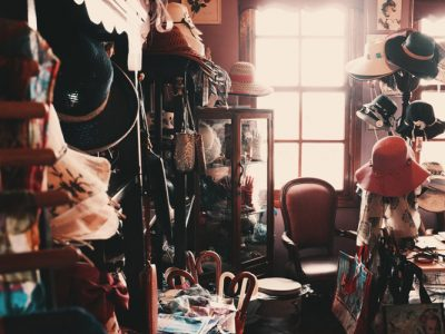 Messy room with a lot of clutter