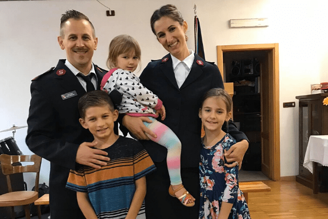 Officers and family