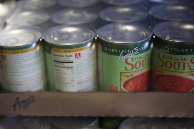 Soup in cans