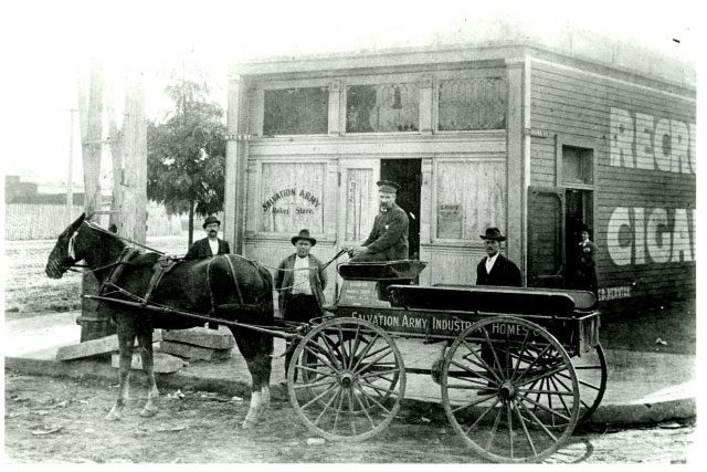 Salvation Army horse drawn carriage