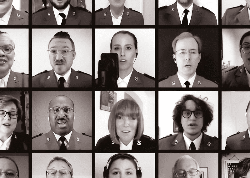 Salvation Army Officer headshot collage